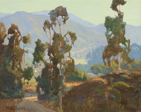 eucalypti in a california landscape by marion kavanaugh wachtel