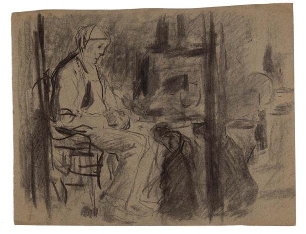 Homme dans un intérieur et Homme assisEtude de main et de personnes ...