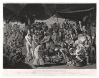 colonel mordaunt's cock match (engraved by richard earlom) by johann joseph zoffany