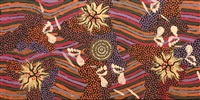 women's dreaming at napperby lake by clifford possum tjapaltjarri