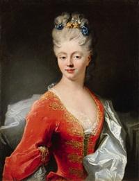 a portrait of a lady by louis tocqué