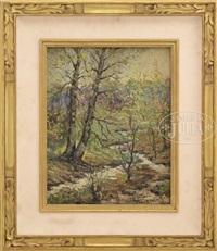 spring landscape by ernest lawson