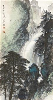 山水 镜心 设色纸本 by li xiongcai
