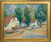 red roofed houses, brandywine by william chadwick