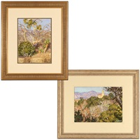 pasadena purple mountains (+ sycamores, 2 works) by tim solliday