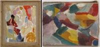 paysage (+ sans titre, smllr; 2 works) by jan krugier