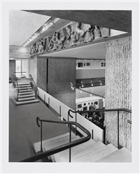 yale art & architecture building (paul rudolph) (2 works) by ezra stoller