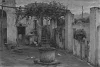innenhof eines hauses auf capri by horace fisher
