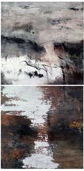 untitled (diptych) by farideh lashai