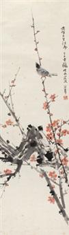 梅雀图 立轴 纸本 by guan shanyue