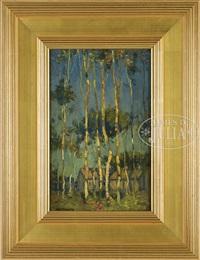 white birches, prince edward island by paul cornoyer