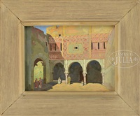 sunlight and shadows in middle eastern scene by jane peterson