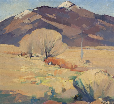 snow capped mountains taos nm by hans paap