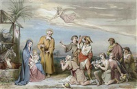 the adoration of the shepherds by louis-charles-auguste couder