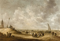 on the beach at scheveningen by jan josefsz van goyen