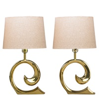 table lamps (pair) by pierre cardin