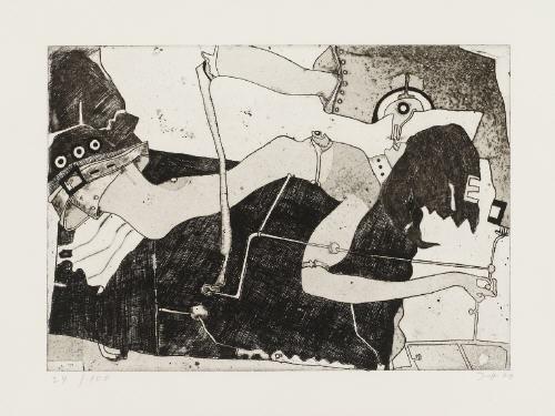 geiles sybillchen1970 mademoiselle lender en buste hubertusbrief 7 1981 3 works incl 1 etching by horst janssen