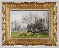 flock of sheep by william baptiste baird