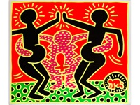 untitled (fertility series, blatt 5) by keith haring