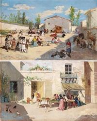 mercado de valencia und pareja, place de ariella (pair) by manuel picolo y lopez