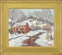 the mill in winter by e. maxwell albert