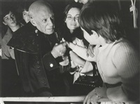 80. geburtstag von pablo picasso im kreis seiner familie. by hilmar pabel