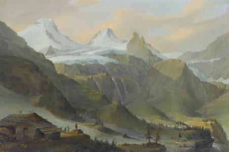 blick von breitlauinen gegen den breithorngletscher by caspar wolf