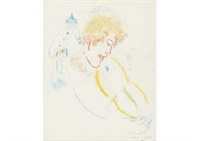 violoniste au chapeau by marc chagall
