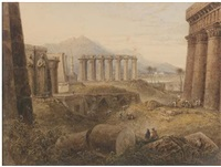 ruins at thebes, egypt by milo de ros