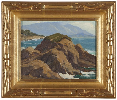 pebble beach rocky coastline by arthur hill gilbert