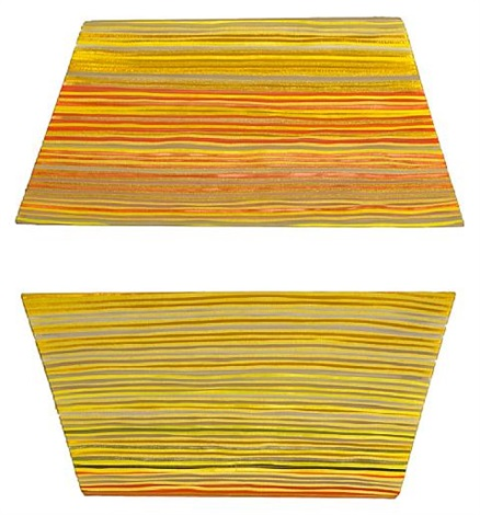 yellow grey (diptych) by jen pack