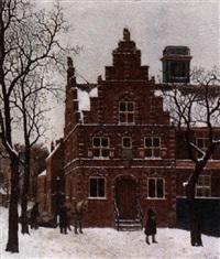 eerste sneeuw - stadhuis graft by bart peizel