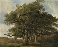 arbres (grosse eichengruppe) by alexandre calame