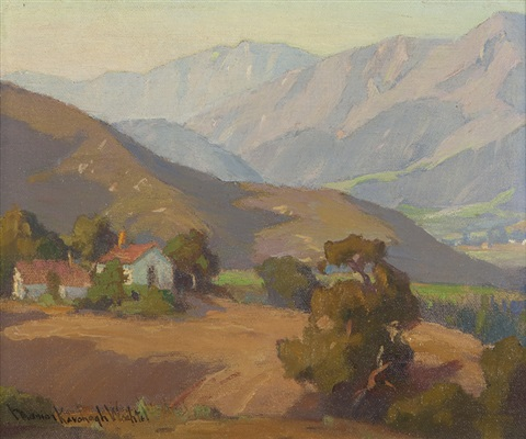house in a california foothill landscape by marion kavanaugh wachtel