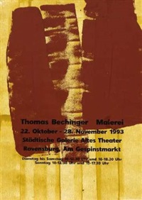 ohne titel (11 works, various sizes) by thomas bechinger