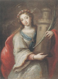 santa bárbara by alonso del (il sordillo) arco