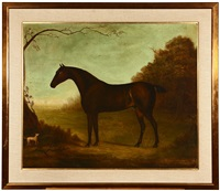 honorable george rice trevor's periwinkle, horse portrait by john miles of northleach
