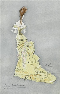 costume design for lady windermere's fan by cecil beaton