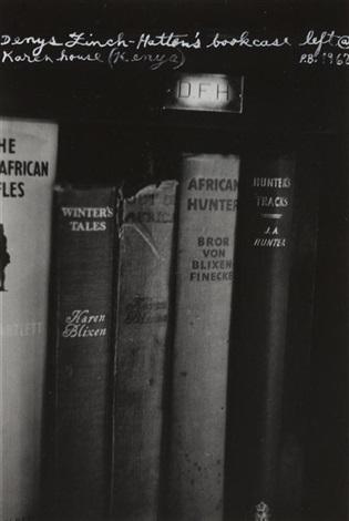 denys finch hatters bookcase left karen house kenya by peter beard