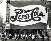 huge pepsi-cola sign by leo lieb