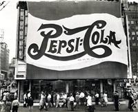 huge pepsi-cola sign by leo lieb