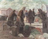 der zentralmarkt von riga by bronislaus konrads