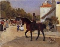 le cavalier by jules antoine voirin