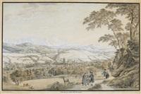 vue de la ville de st. gall by gabriel ludwig lory