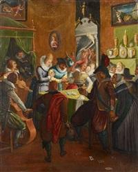 nächtliche gesellschaft in einer taverne by joos van winghe