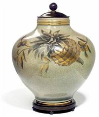 lidded vase by knud andersen