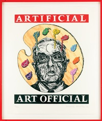robbie conal artificial art official - senator jesse helm by robbie conal