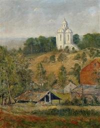 landscape, hainaut province, belgium by gerard (ger) jacobs