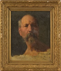 portrait de l'artiste marius steinlen (1826-1866) by albert anker