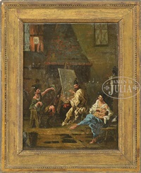 in the artist studio by pietro longhi